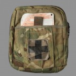 Camouflaged medical kit/first aid pouch