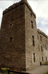 Detailed view of the western tower of Huntingtower Castle