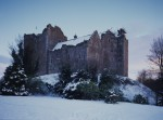 Doune Castle in the snow
