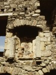 Detail of fireplace at Dunstaffnage Castle