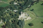 Aerial view of Kildrummy Castle