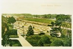 Old postcard of 'Castle Gardens', Dirleton Castle