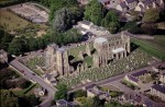 Aerial view of Elgin Cathedral