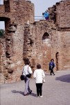 Visitors at Caerlaverock Castle