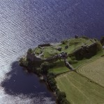 Aerial view of Urquhart Castle