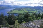 The Great Glen,  Glen Albyn or Glen More and Loch Ness taken from the hills above Drumnadrochit