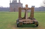 The trebuchet at Caerlaverock Castle