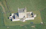 Aerial view of Corgarff Castle