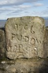 Graffiti at Blackness Castle dating to 1796.Situated on the sea wall to the west of the castle it reads 'PR J DOW'