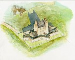 Reconstruction drawing of Corgarff Castle