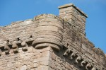 Detail view of the east tower exterior, Huntingtower Castle