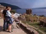 Visitors within the grounds at Urquhart castle