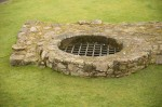 Detail of the well at Aberdour Castle
