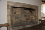 Detail of fireplace in Aberdour Castle