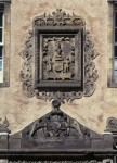 The heraldic panel of Lord Stirling above the main entrance at Argyll's Lodgings in Stirling