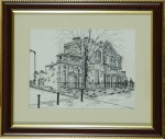 Drawing of Trinity House by Gilbert T