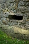 Detail of gunloop at Lochleven Castle
