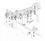 An illustration of Aberdour Castle