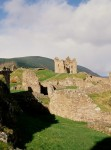 A general view of Urquhart Castle overlooking Loch Ness