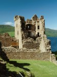 A view of Grant Tower from the south showing the collapsed south wall, Urquhart Castle