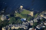 An aerial view of St Andrews Castle