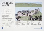 Interpretation panel at Urquhart Castle