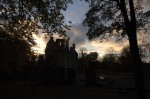 Silhouette of Huntly Castle