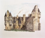 Drawing of the Earl's Palace, Kirkwall