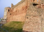 General view of E end of front of castle at Tantallon Castle