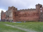 General view of castle front at Tantallon Castle