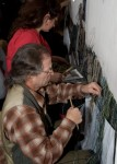 Weavers working on 'The Unicorn at Bay' tapestry at Stirling Castle, part of the Stirling Tapestries project