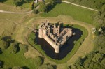 Aerial view of Caerlaverock Castle