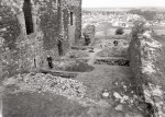 General view of excavations at Dundonald Castle