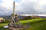 General view of the trebuchet at Urquhart Castle