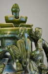 Detail view of a replica knight's jug, Urquhart Castle