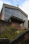 Exterior view of Saint Charles Parish Church, 9 Kelvinside Gardens, Glasgow, designed by Gillespie, Kidd and Coia, 1959-1960