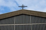 Detail exterior view of Saint Charles Parish Church, 9 Kelvinside Gardens, Glasgow, designed by Gillespie, Kidd and Coia, 1959-1960