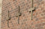 Detail view of St Margaret Mary Roman Catholic Church, 99 Dougrie Road, Glasgow