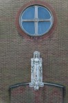 Detail view of the Immaculate Heart of Mary Roman Catholic Church, 166 Broomfield Road, Glasgow