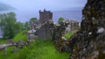 General view of Urquhart Castle and Loch Ness