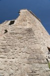 Detail view of the 16th century tower house at Urquhart Castle