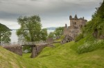 General view of the drawbridge at Urquhart Castle