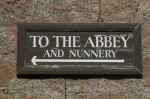 Sign directing towards Iona Abbey and Nunnery