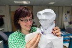 3D paper model of Mary Queen of Scots crafted by Sabine Kurz, Historic Scotland's Digital Online Content Officer, after David Annand's statue at Linlithgow Palace