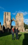 Visitors exploring Elgin Cathedral
