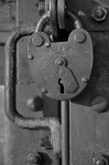 A Padlock on a  Train (Detail) at Auschwitz Concentration Camp, near Krakow, Poland