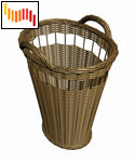 Wicker Basket (3D model)