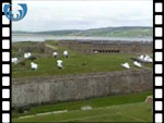 Fort George, cannons being fired (video clip)