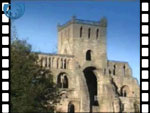 Jedburgh Abbey, rose window and plainsong (video clip)