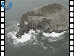 Bass Rock from the air, (video clip)